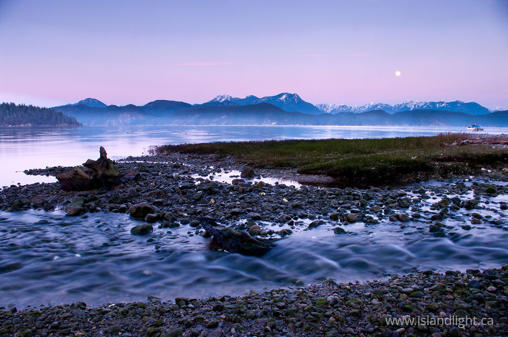 Landscape  photo from Squirrel Cove Cortes Island, British Columbia Canada.