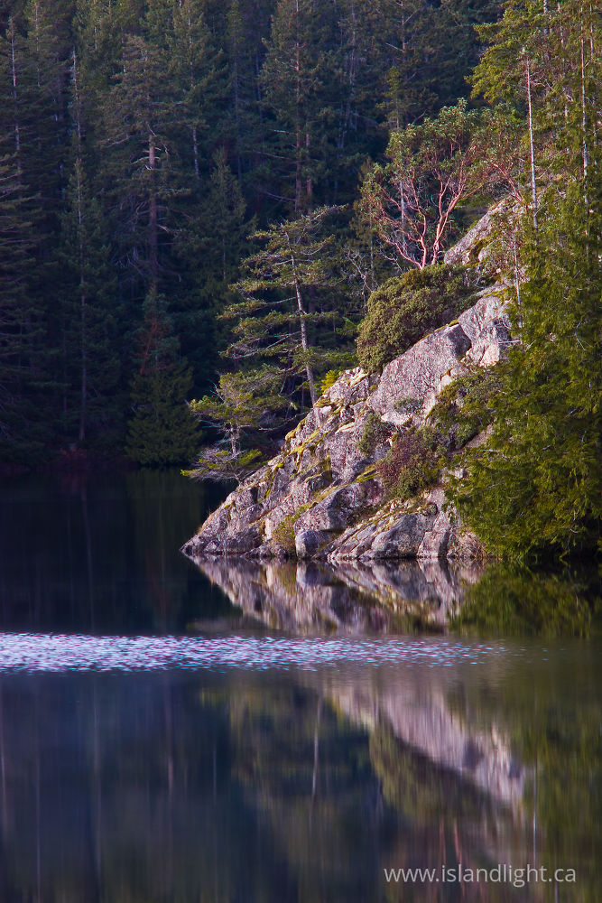 Landscape  photo from Hague Lake Cortes Island, BC Canada.