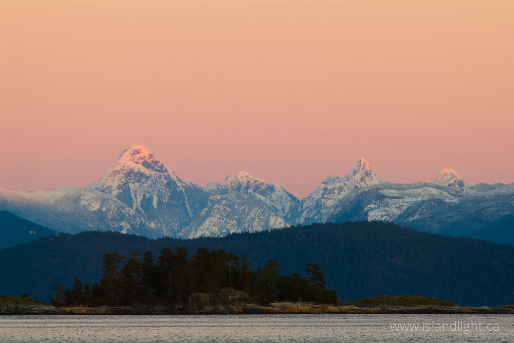 Landscape  photo from  Cortes Island, British Columbia Canada.