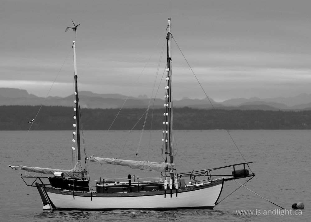 Boating photo from  Cortes Island, BC Canada.