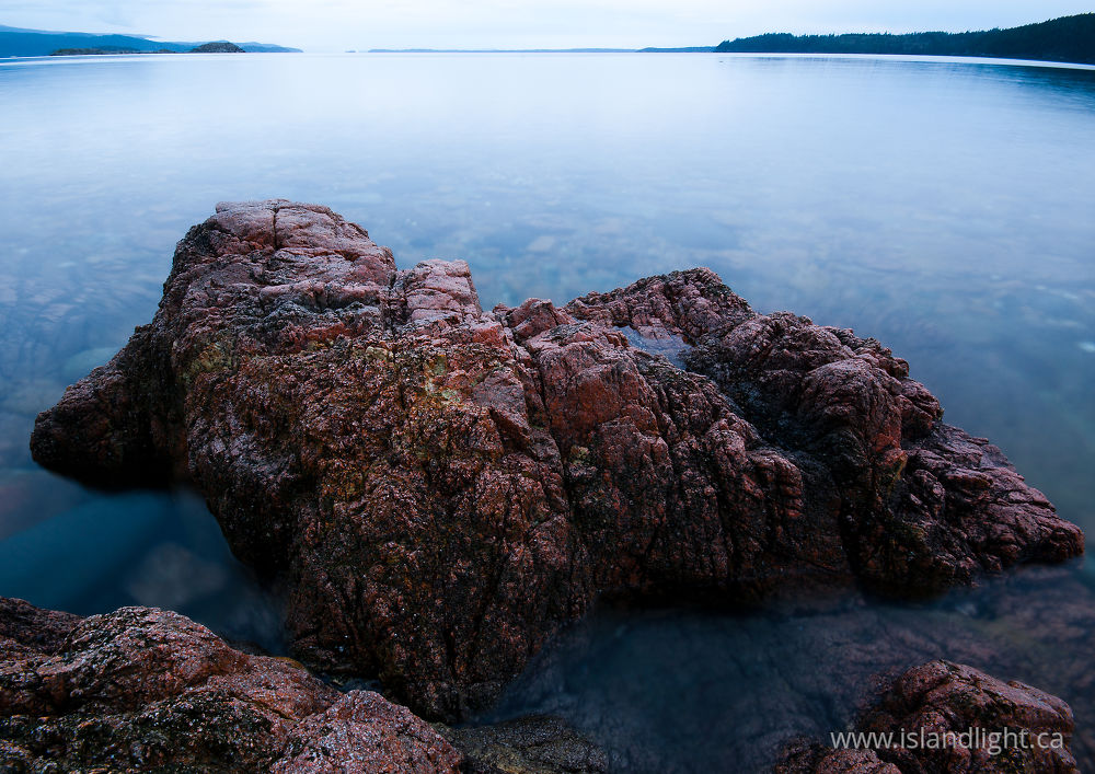 Seascape  photo from Red Granite Point Cortes Island, British Columbia Canada.