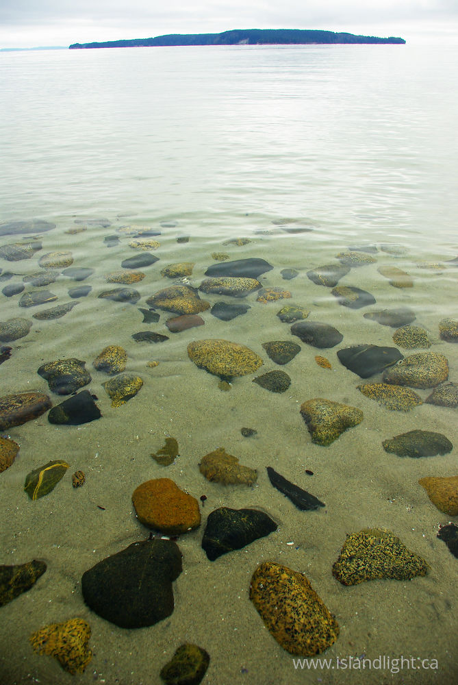 Seascape photo from  Cortes Island, BC Canada.
