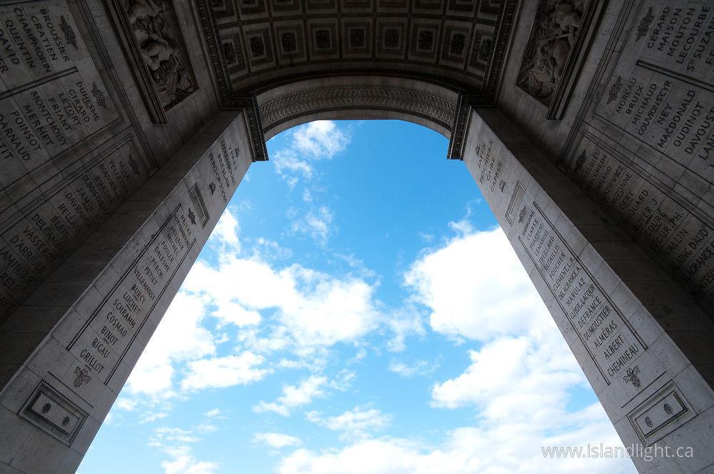 Arc De Triomphe Architecture Ecard From Place Charles De Gaulle Paris Fra