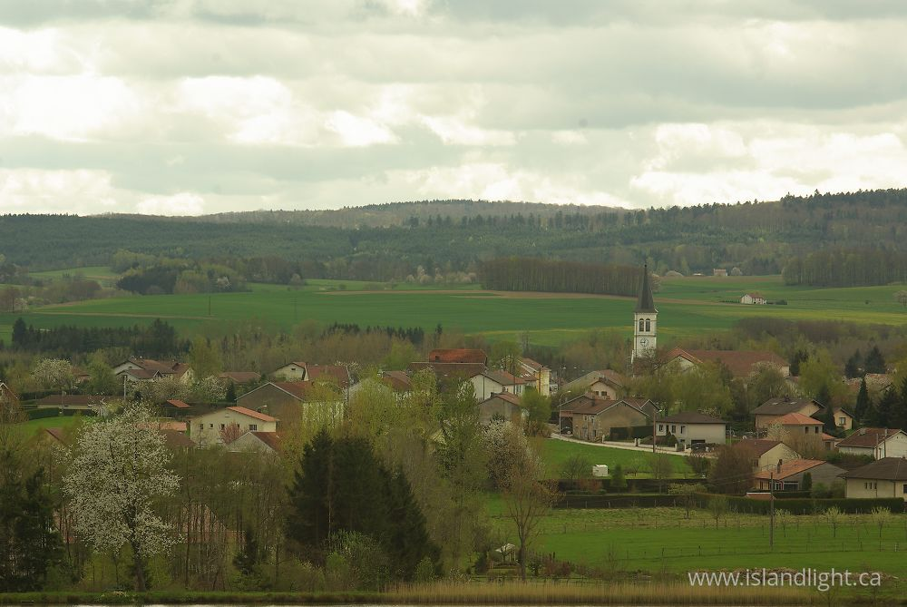 Landscape  photo from  Unidentified town, Vosges France.