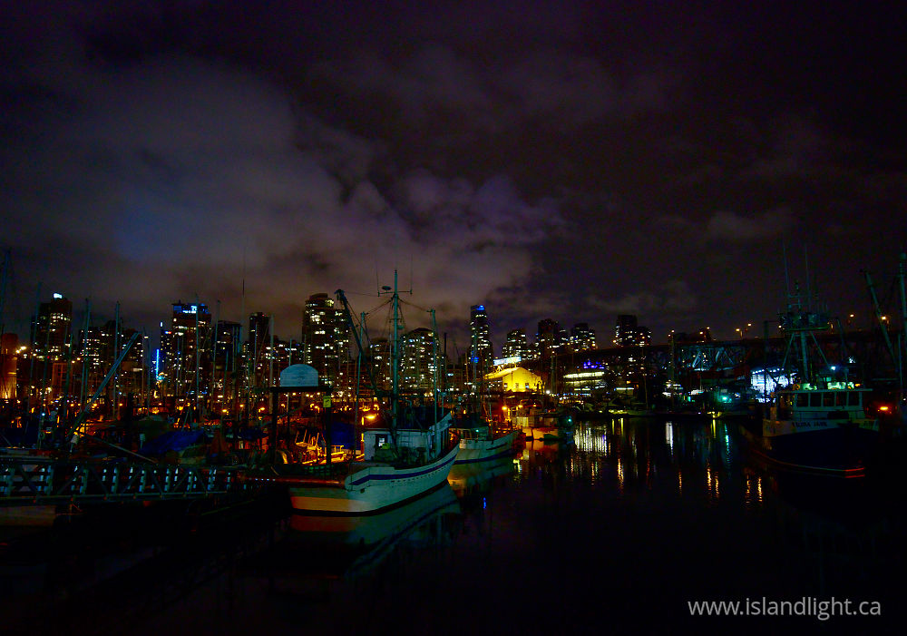 Cityscape  photo from Fishermans Wharf Vancouver, British Columbia Canada.