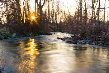Sunbeam ~ River picture from Aillevillers France.