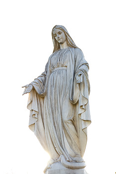 Mary ~ Statue picture from Aillevillers France.