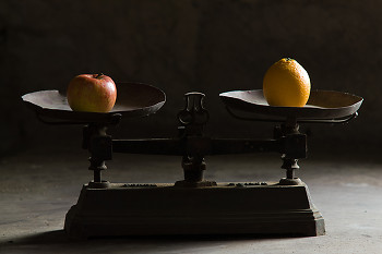 Apples & oranges ~ antique picture from Aillevillers France.
