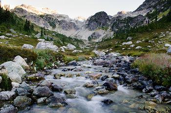 Alpine creek II ~ Mountain picture from Brandywine Meadows Canada.