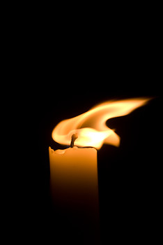 Flame ~ Candle  picture from Cortes Island Canada.