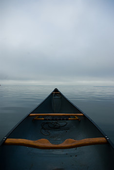 A Calm Paddle ~ Canoe picture from Mansons Landing Canada.