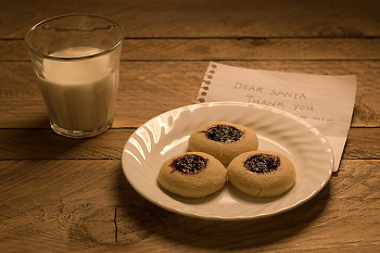 Dear Santa... ~ Cookie picture from Cortes Island Canada.