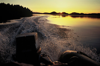 Boating picture from Cortes Island Canada.
