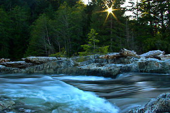Reversing Falls ~ Creek picture from Cortes Island Canada.