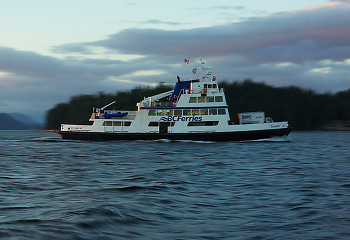Heading Home ~ Ferry picture from Cortes Island Canada.
