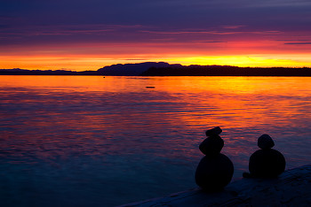Standing Stones ~ Landscape picture from Cortes Island Canada.