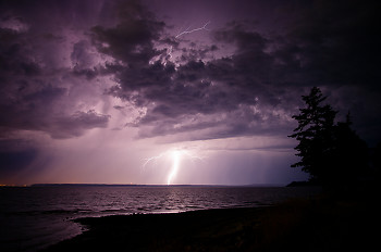 Lightening ~ Lightening picture from Cortes Island Canada.