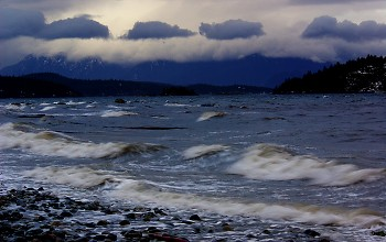 A South Easter ~ Ocean picture from Cortes Island Canada.