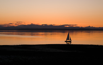 Light Airs ~ Sailing picture from Cortes Island Canada.