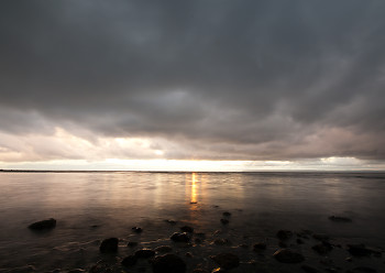 Overcast ~ Seascape  picture from Cortes Island Canada.