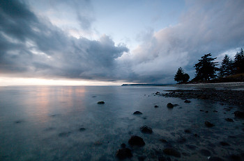 Looking North ~ Seascape  picture from Cortes Island Canada.