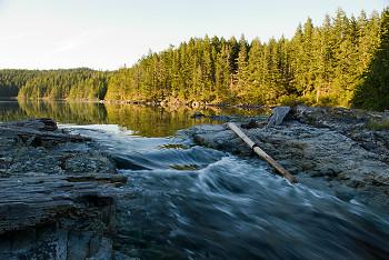 Seascape picture from Cortes Island Canada.