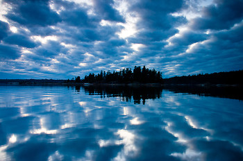 Cat Islands ~ Seascape  picture from Cortes Island Canada.