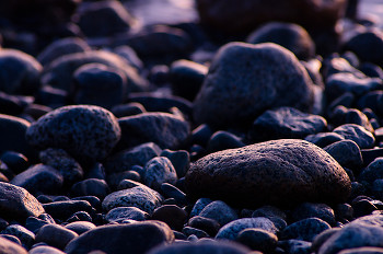 Stones as Art ~ Shoreline picture from Cortes Island Canada.
