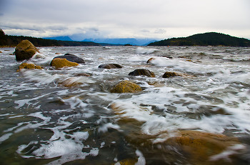 Moving Water ~ Storm picture from Cortes Island Canada.