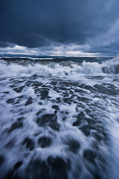 Wave ~ Storm picture from Cortes Island Canada.