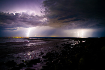 Power ~ Lightening picture from Discovery Islands Canada.