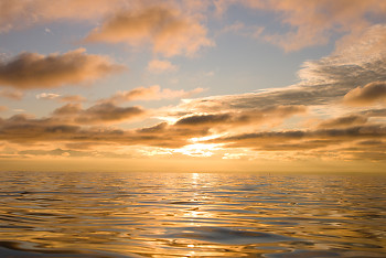 Salt Water Sunset  ~ Nature picture from Georgia Strait Canada.