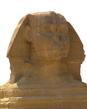 Sphinx Head ~ Sphinx picture from Giza Egypt.
