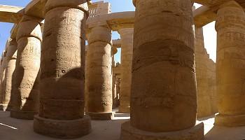 Karnak Temple Pillars ~ Egyptian Temple picture from Karnak Egypt.