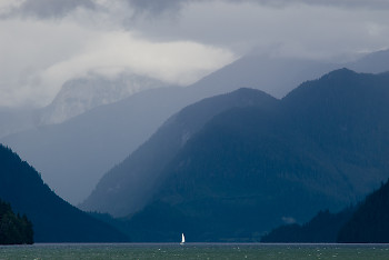 Inlet Sailing ~ Sailing picture from Knight Inlet Canada.