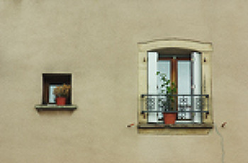 Big Window, Small Window ~ Window picture from Luxieul-les-bains France.
