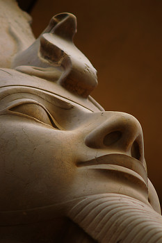 Statue of Ramesses II ~ Ancient Egypt picture from Luxor Egypt.