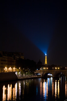 Eiffel Tower Light ~ Cityscape  picture from Paris France.
