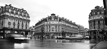 Paris Intersection ~ Street picture from Paris France.