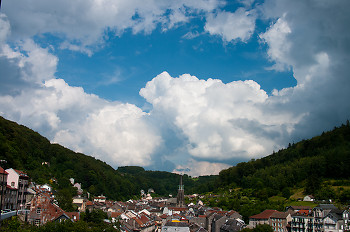 Plombieres Skyline ~ Village picture from Plombieres France.