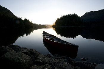 Port Neville Evening ~ Canoe picture from Port Neville Canada.