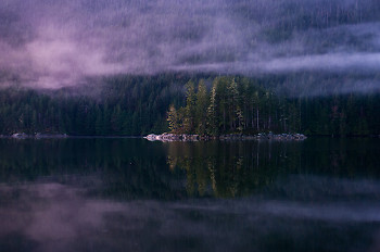 Portrait of an Island in Morning Mist ~ Landscape  picture from Port Neville Canada.