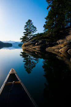 Exploring by Canoe ~ Travel picture from Port Neville Canada.