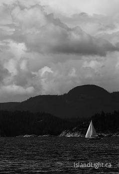 Sailing picture from Quadra Island Canada.