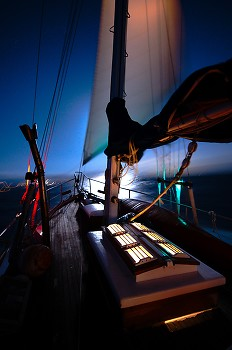 Night Sailing ~ Boating  picture from Salish Sea Canada.