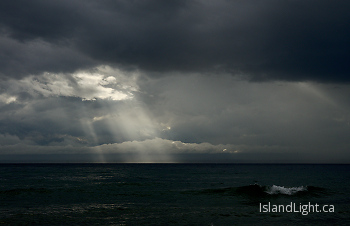 Illuminated  ~ Sunbeam picture from Salish Sea Canada.
