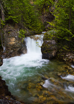 Springer Creek ~ Waterfall picture from Slocan Valley Canada.