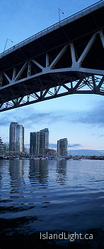 Granville Bridge panorama ~ Bridge picture from Vancouver Canada.