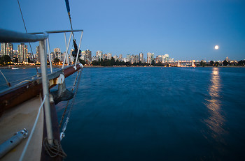 Entering False Creek ~ Sailboat picture from Vancouver Canada.