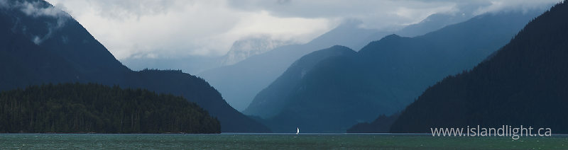 A Small Boat in a Big Inlet - Knight Inlet  photo